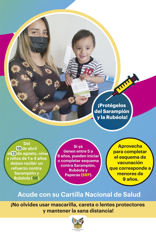 CARTEL - Vacunación sarampión y rubeola
