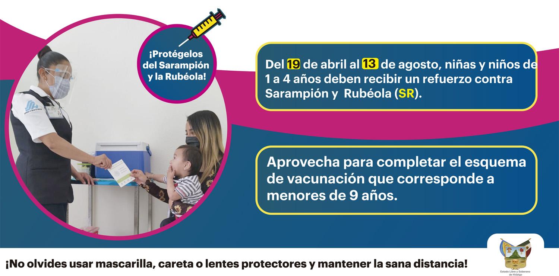 LONA - Vacunación sarampión y rubeola
